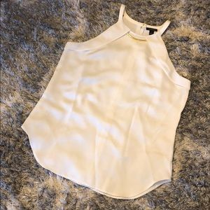 Ivory 2 in 1 necklace/blouse- Ann Taylor
